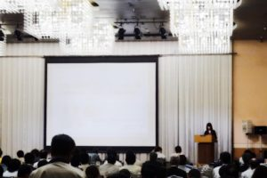 (社)群馬県建設業協会様、 表情コミュニケーションの講演